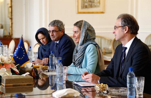 موگرینی در مسیر بازگشت از تهران چه نوشت؟