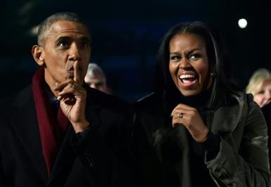 (قابمتحرک) ساکت کردن میشل اوباما در جشن