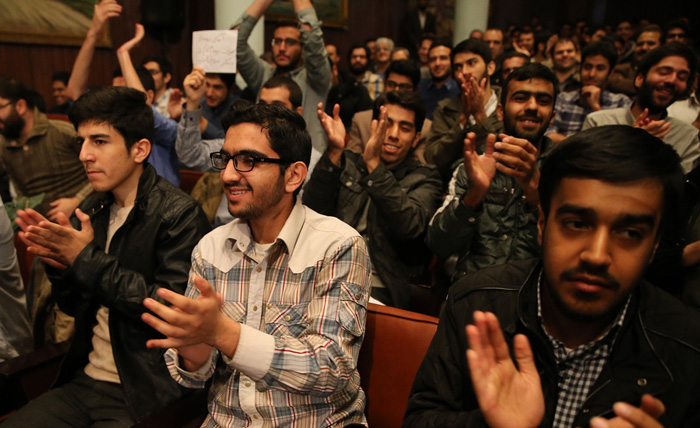 (تصاویر) روحانی در دانشگاه تهران