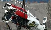 2 تن در حادثه سقوط بالگرد در دریاچه چیتگر جان باختند