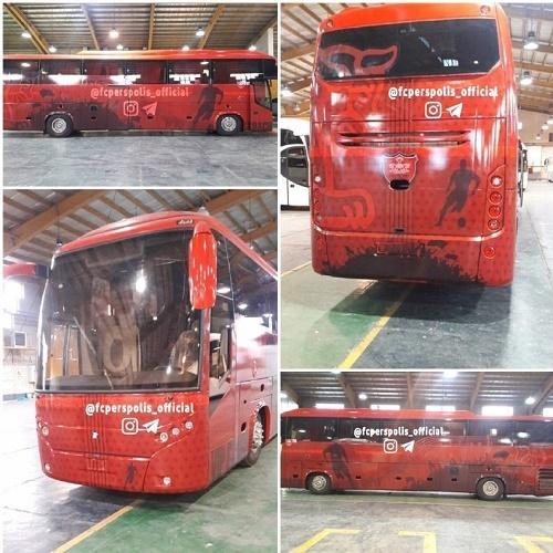 تصویری از اتوبوس اختصاصی پرسپولیسیها