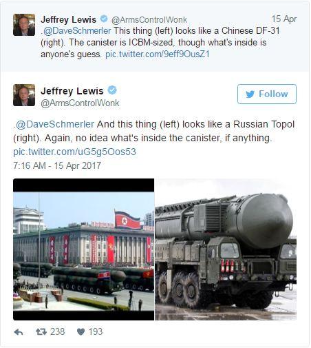 رژه موشکهای کره شمالی