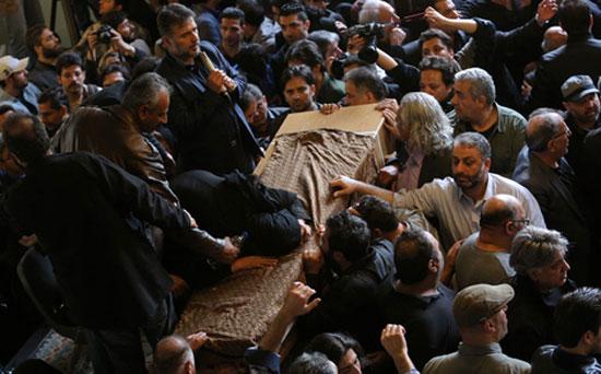 حواشی مراسم تشییع پیکر مرحوم لرستانی