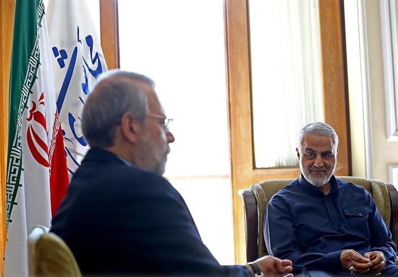 (عکس) دیدار سردار سلیمانی با علی لاریجانی