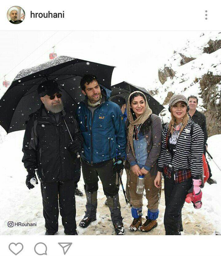 (تصاویر) عکس یادگاری روحانی با دختران کوهنورد