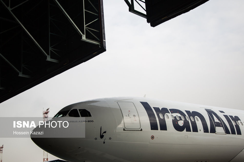 (تصاویر) فرود سومین ایرباس برجامی در مهرآباد