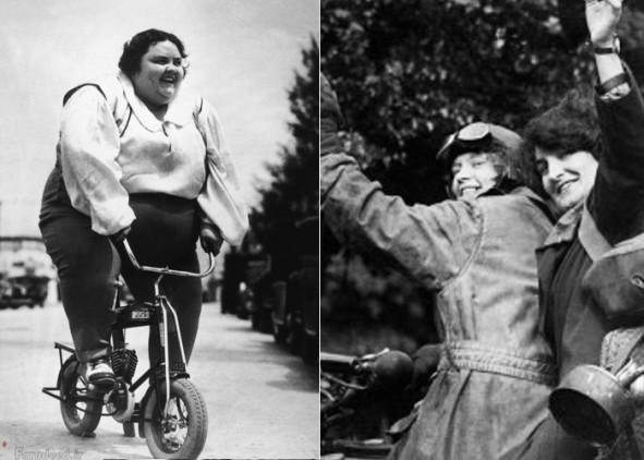 (تصاویر) تاریخچه موتورسواری زنان در جهان