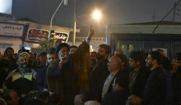 (تصاویر) حضور یک امام جمعه در جمع معترضان