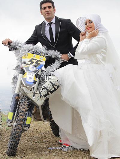 اولین عروس سوار بر موتور ایران