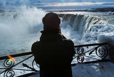 تصاویر دیدنی از یخزدگی آبشار نیاگارا
