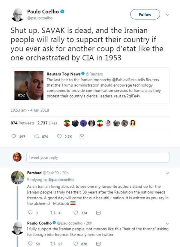 جنگ  توئیتری درباره ناآرامیها