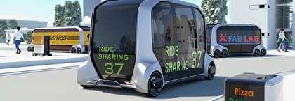 تویوتا اتوبوس خودران مفهومی طراحی می کند