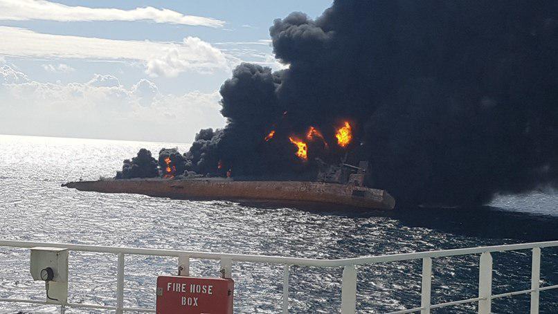 چین: ۳۲ خدمه نفتکش ایرانی جان باختند