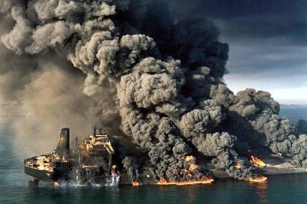 عکسی که جای نفتکش «سانچی» قالب شد