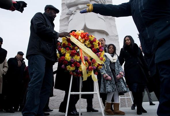 (تصاویر) بزرگداشت لوترکینگ همزمان با توهین ترامپ