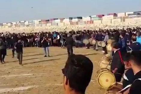 عزاداری مردم بوشهر برای جانباختگان سانچی
