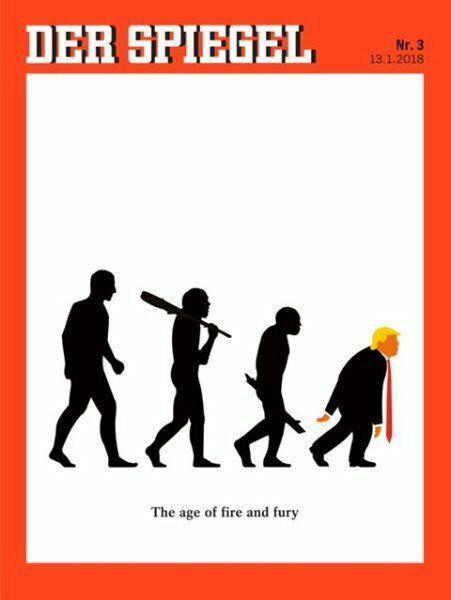 (تصویر) طرح جلد قابل تامل نشریه آلمانی درباره ترامپ
