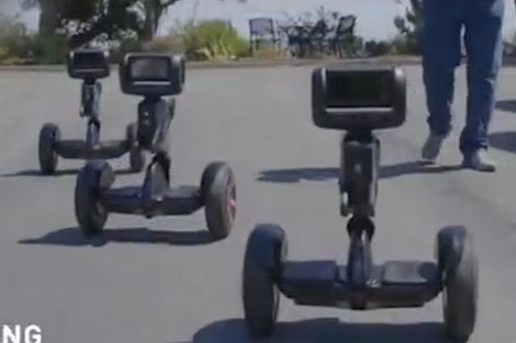 رباتی که به انسانها سواری میدهد