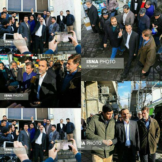 احمدینژاد و مشایی مقابل دادگاه بقایی