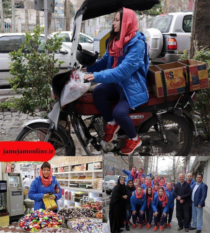 گشت و گذار تیم فوتسال بانوان روسیه در تهران