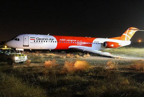 (تصاویر) خارج شدن هواپیما از باند فرودگاه مشهد