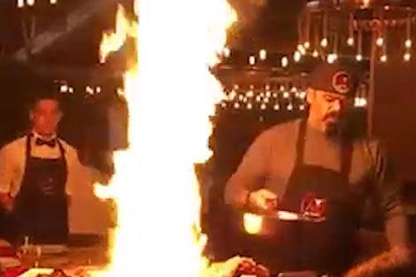 هنرنمایی سرآشپز رستوران را تعطیل کرد