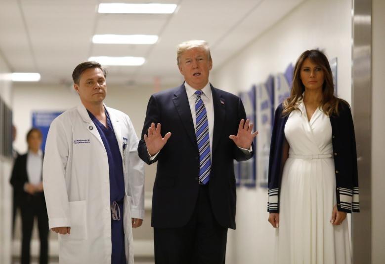(تصاویر) ترامپ در بیمارستان