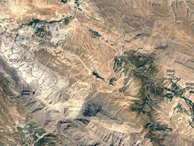 (تصاویر) محل دقیق سقوط هواپیمای تهران_یاسوج