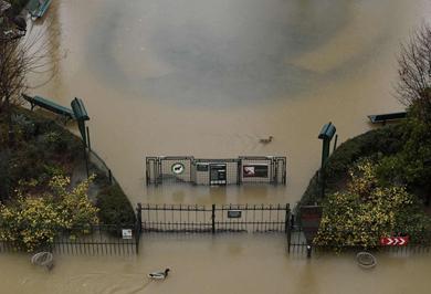 (تصاویر) سیل ساحل پاریس را تعطیل کرد