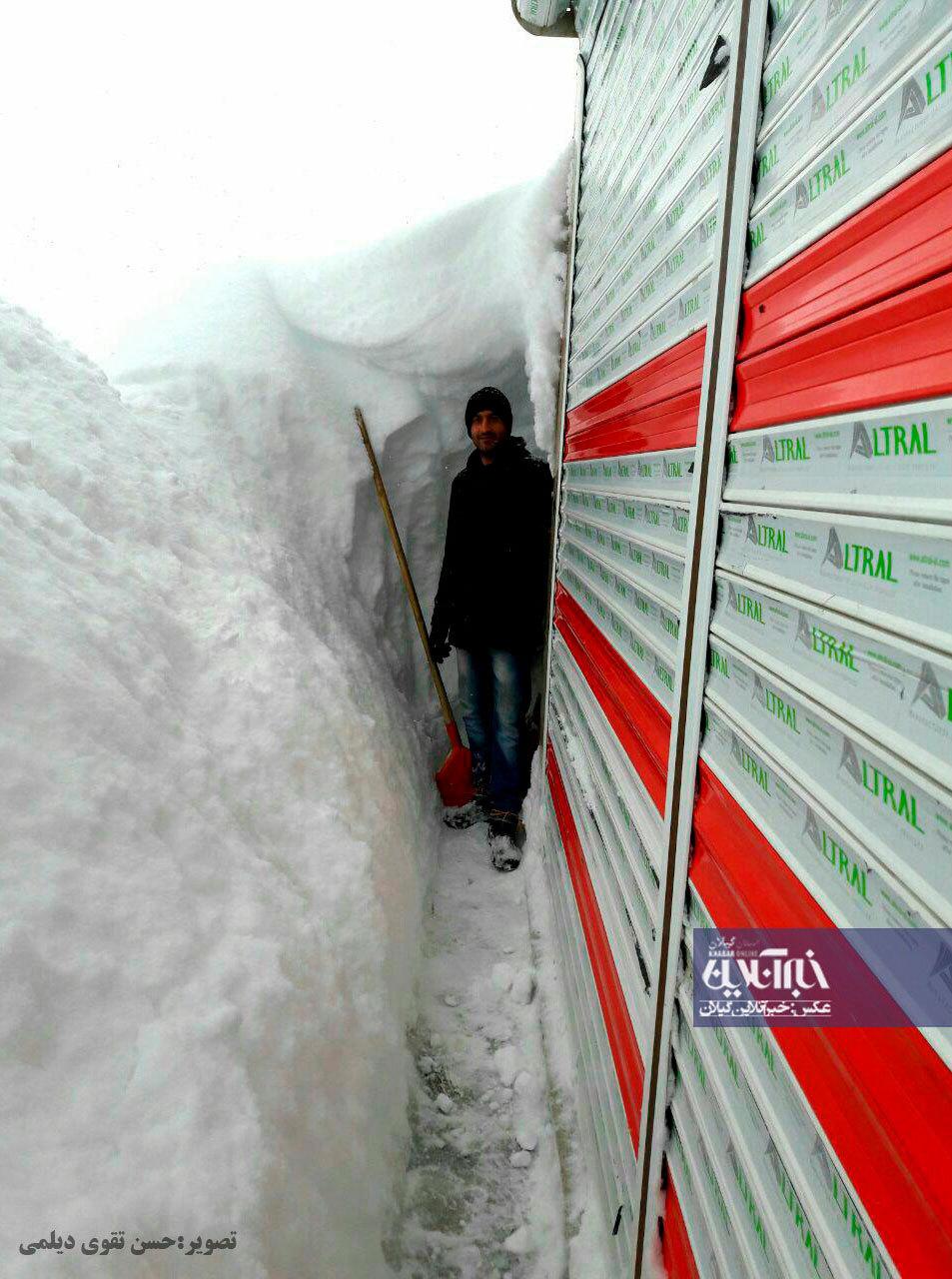 (تصویر) بارش دو متر برف در اسپیلی دیلمان