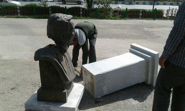تندیس پدر بوکس ایران تخریب شد