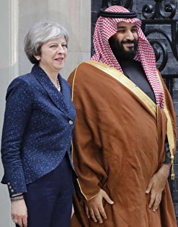 (تصاویر) دیدار بنسلمان با ملکه و نخستوزیر انگلیس