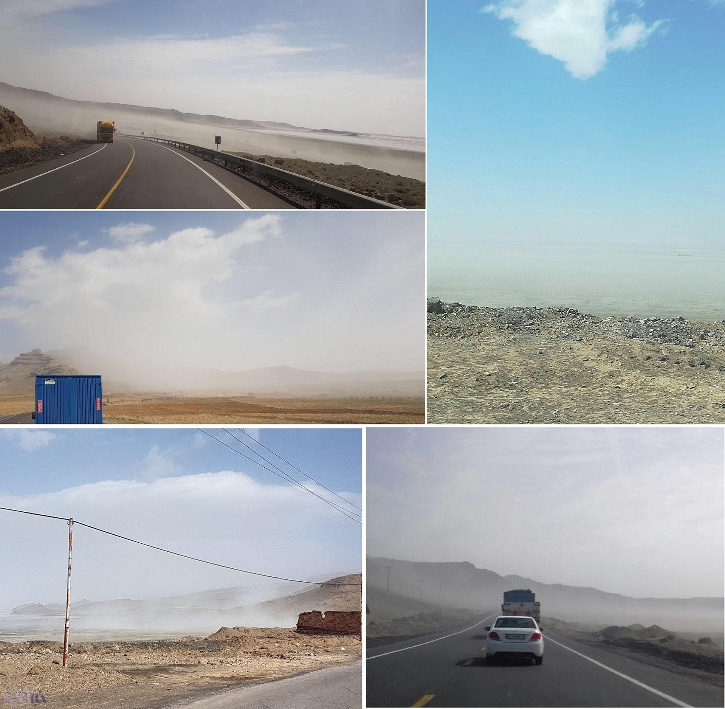 (تصویر) طوفان نمک ارومیه را در نوردید
