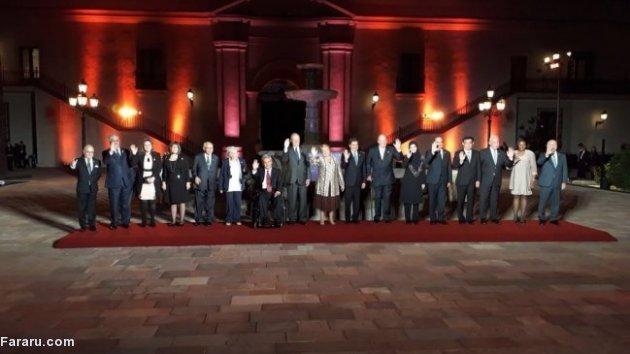 (تصاویر) لعیا جنیدی در کاخ ریاست جمهوری شیلی