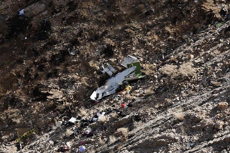 اولین تصاویر از قطعات هواپیمای متلاشی شده ترکیهای