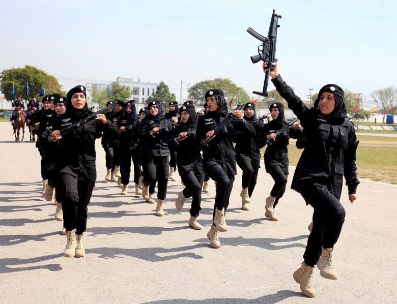 (تصویر) کماندوهای زن پلیس پاکستان