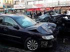 (تصاویر) تصادف آزرا و پراید در خیابان خلیج فارس