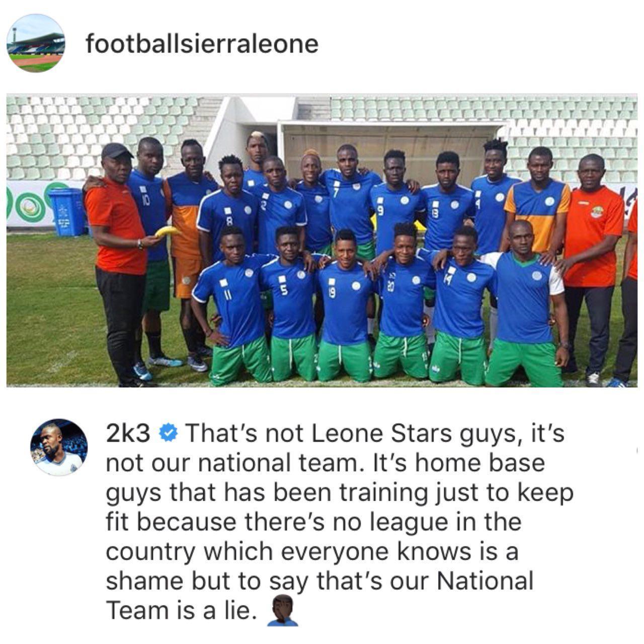 پیغام عجیب ستاره سیرالئون: این تیم ملی ما نیست!