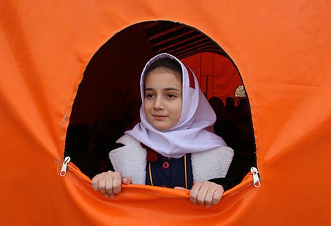 (تصاویر) مدارس کانکسی در سرپل ذهاب