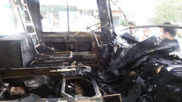 فوت 4تن در آتشسوزی مینیبوس