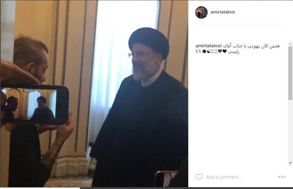 تتلو به رئیسی: انشاالله جشن قهرمانی شما را برگزار میکنیم