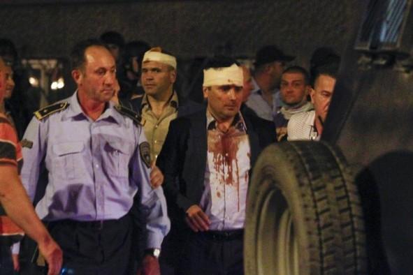 (تصاویر) زد و خورد در پارلمان مقدونیه
