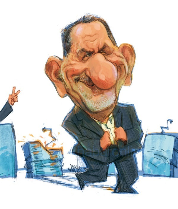 Image result for استعفای جهانگیری کاریکاتور