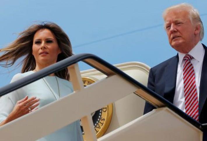 (تصاویر) بدرقه ترامپ و همسرش در عربستان