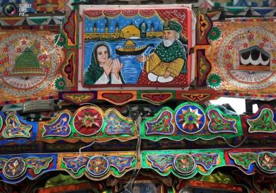 (تصاویر) نقاشی کامیونی در پاکستان