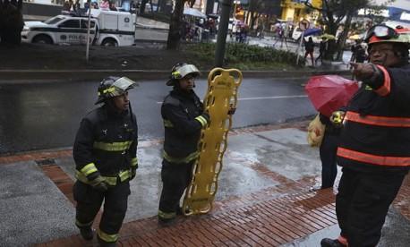 (ویدئو) انفجار در مرکز تجاری در پایتخت کلمبیا