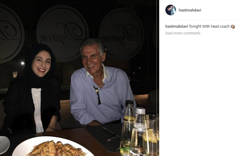 (عکس) کارلوس کیروش کنار بازیگر زن ایرانی