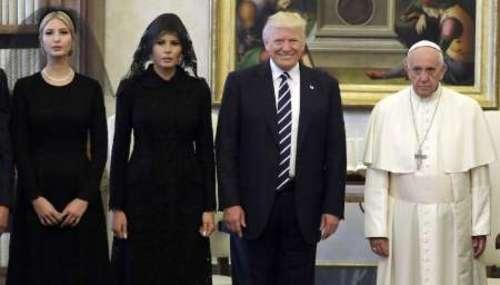 (تصاویر) پوشش متفاوت خانواده ترامپ سوژه رسانهها شد