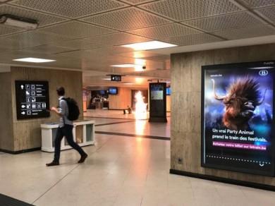 (تصاویر) انفجار تروریستی در مترو بروکسل