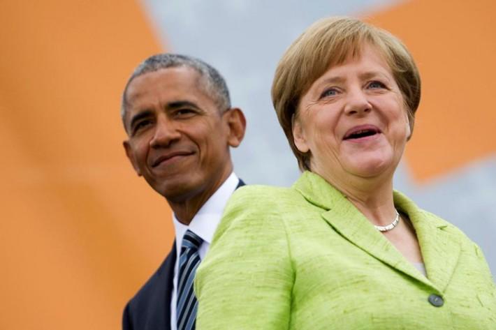 (تصاویر) استقبال گرم مرکل و آلمانیها از اوباما